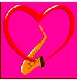 Red heart and Saxophone vector image