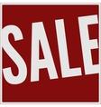 Sale big red banner vector image