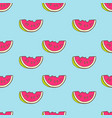 seamless summer pattern with color watermelon vector image