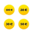 Money in Euro icons Hundred fifty EUR vector image