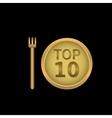 Top 10 label vector image