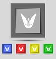 Spotlight icon sign on original five colored vector image