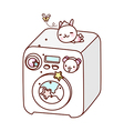 A washing machine is placed vector image vector image