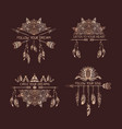 gold decoration of tribal style with motivate vector image