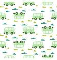 car cute baby green scandinavian seamless vector image