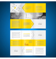 Brochure folder leaflet arrow line yellow vector image