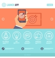 flat webpage template vector image