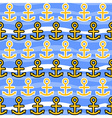 Seamless Pattern with Anchors Sea Background vector image
