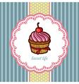 Tasty cake in retro style vector image