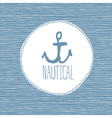 anchor nautical card vector image vector image