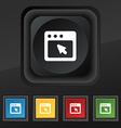 dialog box icon symbol Set of five colorful vector image