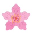 japanese flower isolated icon design vector image