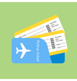 airline tickets vector image