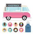 food truck ice cream vector image