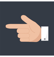 forefinger icon vector image