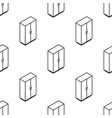 isometric wardrobe seamless pattern vector image