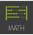 math with abacus design banner and background vector image