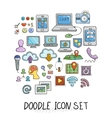 Set of Universal Doodle Icons Bright Colors and vector image