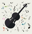 violins with notes music background vector image