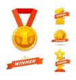 Winner set awards vector image