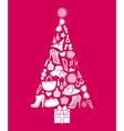 Fashion Christmas Tree vector image vector image