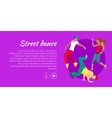 Street Dance Concept Flat Style Web Banner vector image