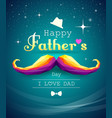 happy fathers day mustache colorful geometric vector image