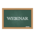 Webinar text on chalkboard vector image