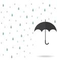 raindrop background with black umbrella vector image vector image