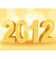 3d gold 2012 vector image