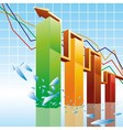 Bar charts vector image vector image