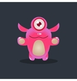 One-eyed Pink Alien vector image