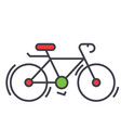 bicycle bike race concept line icon vector image