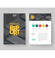 Business brochure design infographics template vector image