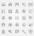car diagnostics icons set vector image