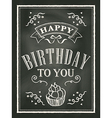 chalkboard Birthday card design background vector image
