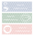 coffee three color pastel style vector image