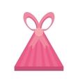 colored gift box triangle shape ribbon stripes vector image
