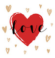 hand drawn love and heart vector image