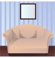 Interior with couch vector image