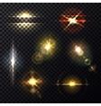Light effect through lens sunlight bleak vector image