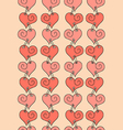 seamless pattern of stitched hearts vector image