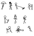 sticks walking games with baby vector image