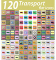 set transport flat icons 04 vector image