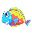 A colorful smiling fish vector image
