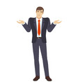 businessman with an i dont know gesture vector image vector image