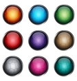 Set stylized glossy buttons vector image