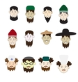 A set of faces of people of different professions vector image