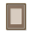 frame with mount vector image