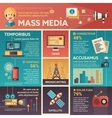 Mass Media - poster brochure cover template vector image